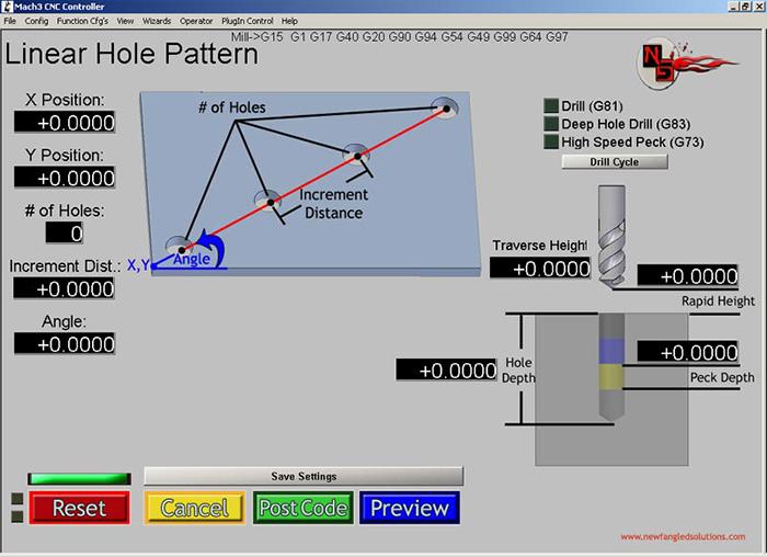 Linear Hole Pattern Mach3 Add-ons