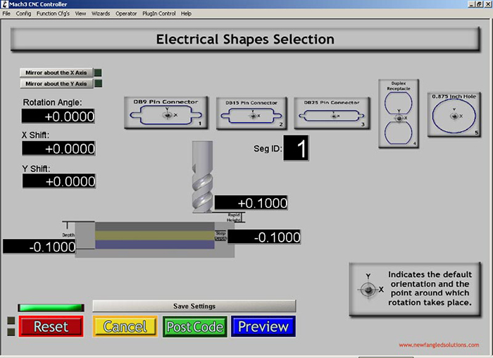 Electrical Shapes Mach3 Add-ons