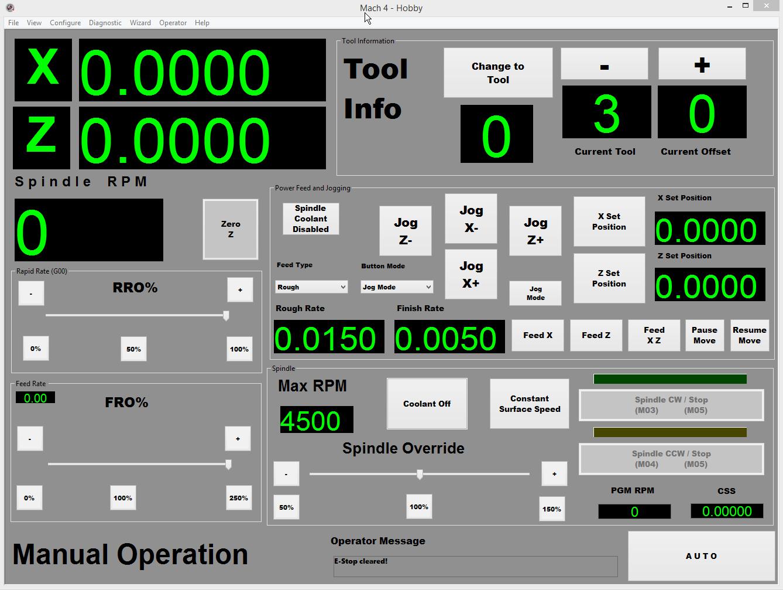 Mach4 Manual Lathe Screen
