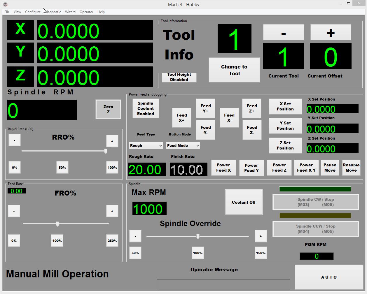 Mach4 Manual Mill Screen